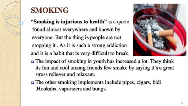 effect essay smoking Writing solutions: an outline for a cause and effect essay on smoking the hazards of smoking have always been a topic of innumerable debates while smokers defend their habit as healthy for themselves and that they will fall sick if they are forced to quit, it is universally accepted that smoking is death trap even for.