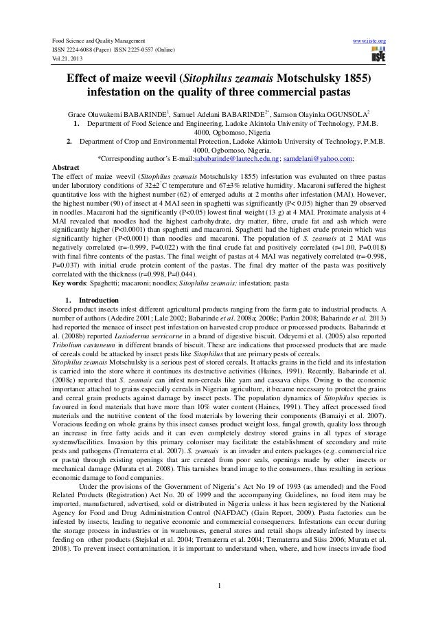 Food Science and Quality Management ISSN 2224-6088 (Paper) ISSN 2225-0557 (Online) Vol.21, 2013  www.iiste.org  Effect of ...