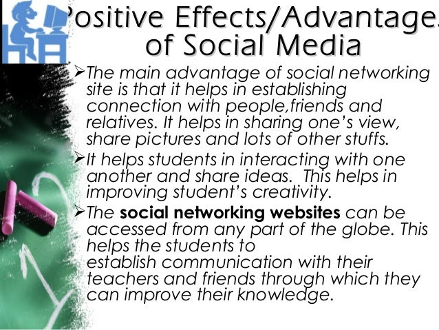 effects of social networking sites to How does social media affect teens the child mind institute examines the impact technology has on self-esteem in adolescence and how parents can help.