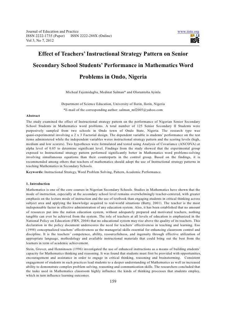 thesis on factors affecting academic performance