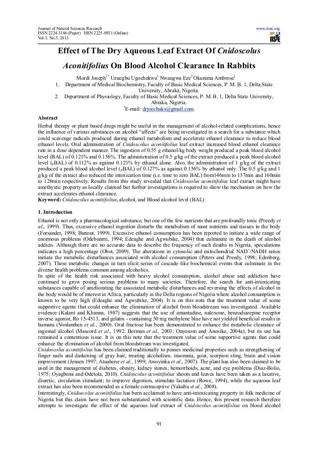 Journal of Natural Sciences Research www.iiste.orgISSN 2224-3186 (Paper) ISSN 2225-0921 (Online)Vol.3, No.5, 201391Effect ...