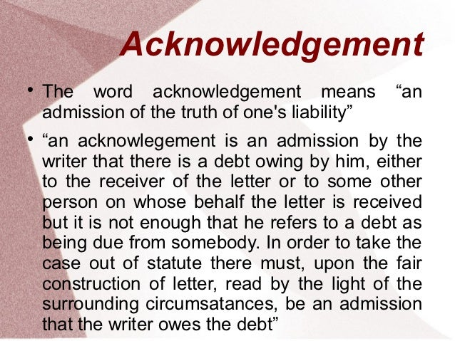 Other words for acknowledge