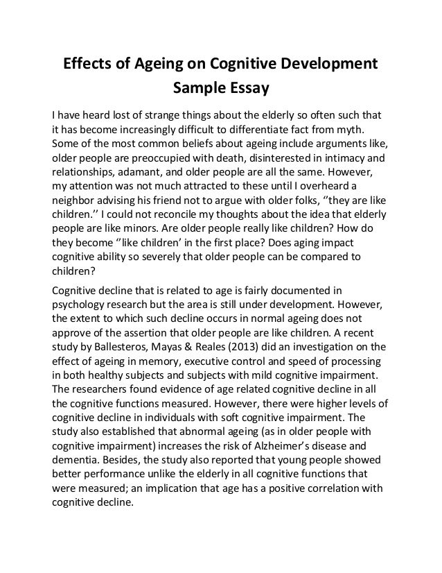cognative development essay Essay writing guide four stage model of how and why the mind processes any new information it encounters known as 'piaget's stage theory of cognitive development.