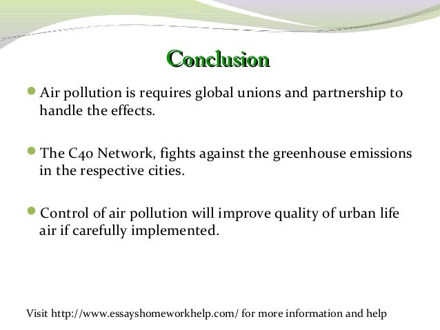 write a essay on air pollution