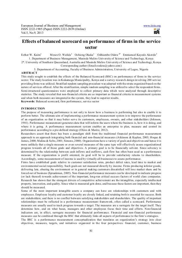 European Journal of Business and Management www.iiste.orgISSN 2222-1905 (Paper) ISSN 2222-2839 (Online)Vol.5, No.9, 201381...