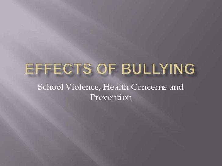 cause and effects of bullying If you have to complete an essay on bullying, read the following example suggesting the reasons that may push a child to bully one's peers.