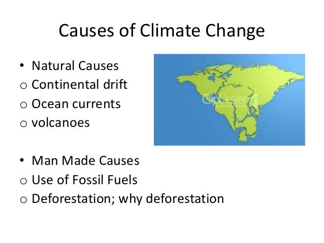 Causes of climate change essay