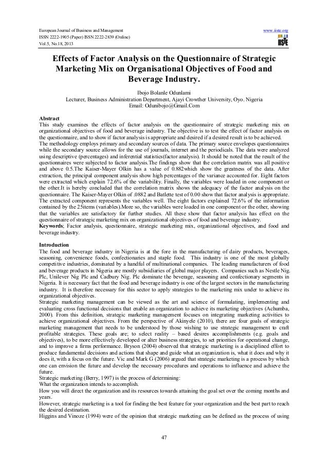 European Journal of Business and Management www.iiste.org ISSN 2222-1905 (Paper) ISSN 2222-2839 (Online) Vol.5, No.18, 201...