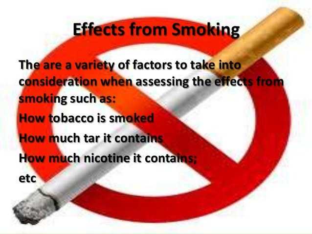 Causes and effect of smoking essay