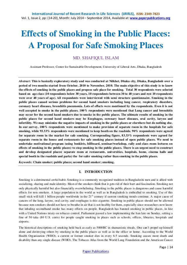 Hazards of smoking essay