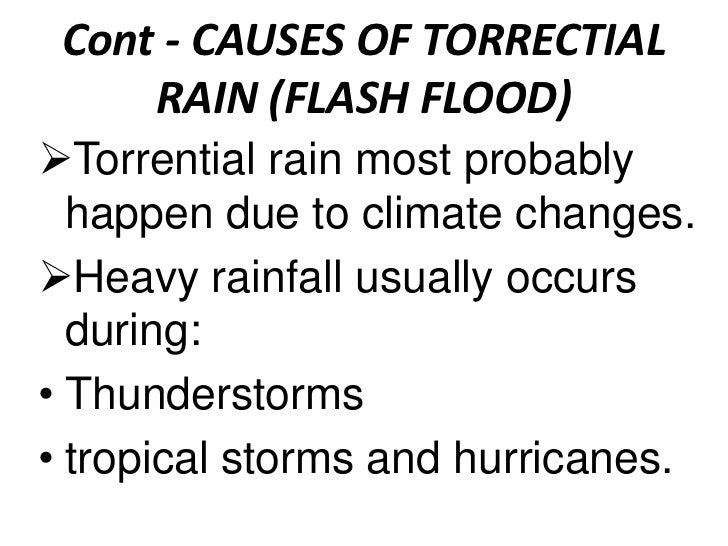causes flash floods essay