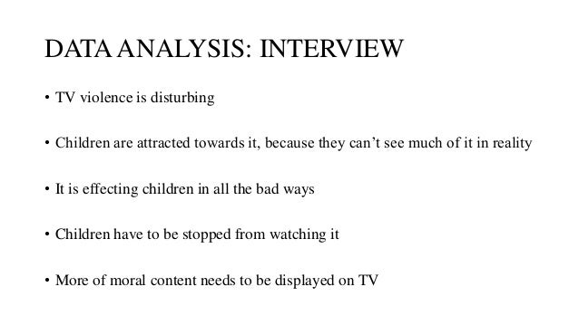 tv violence essay thesis