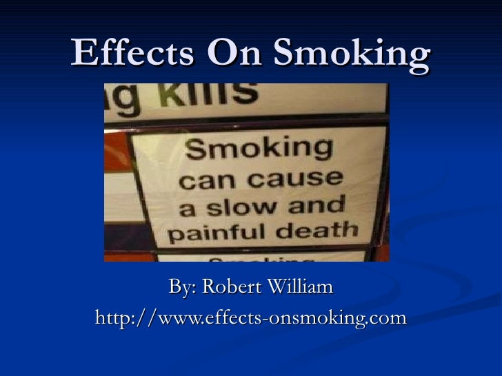 Effects on smoking