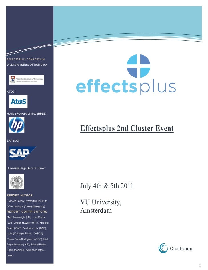 Effectsplus july event report