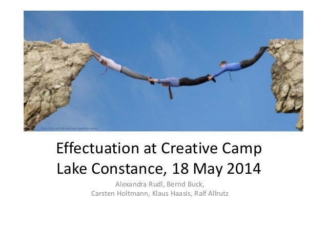 Effectuation at Creative Camp, Lake Constance, May 2014