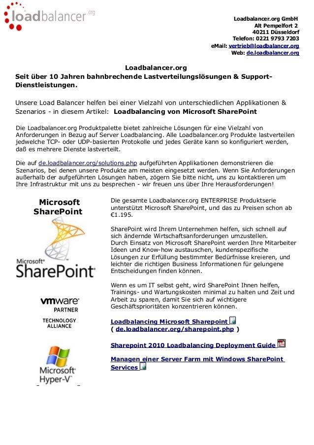 Loadbalancer.org GmbHAlt Pempelfort 240211 DüsseldorfTelefon: 0221 9793 7203eMail: vertrieb@loadbalancer.orgWeb: de.loadba...