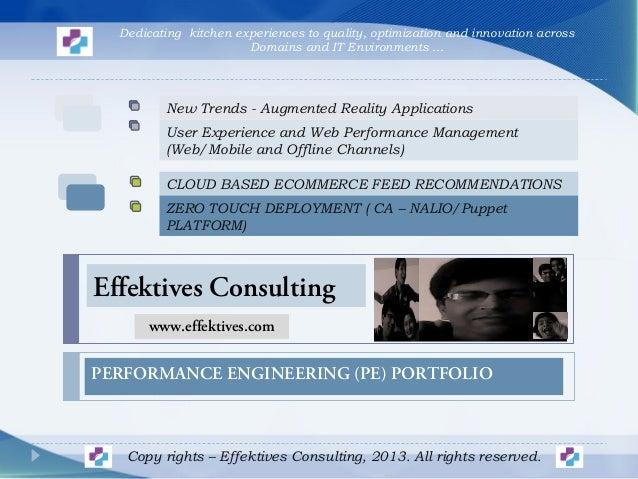 Effektives Consulting - Performance Engineering