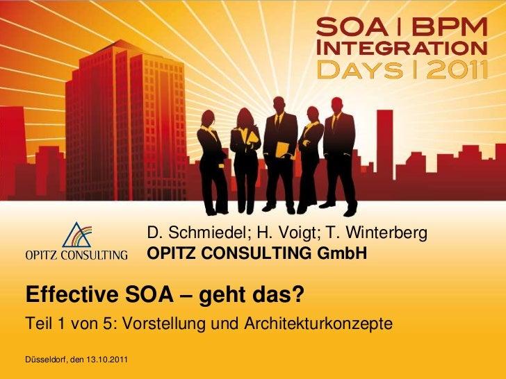 D. Schmiedel; H. Voigt; T. Winterberg                             OPITZ CONSULTING GmbHEffective SOA – geht das?Teil 1 von...