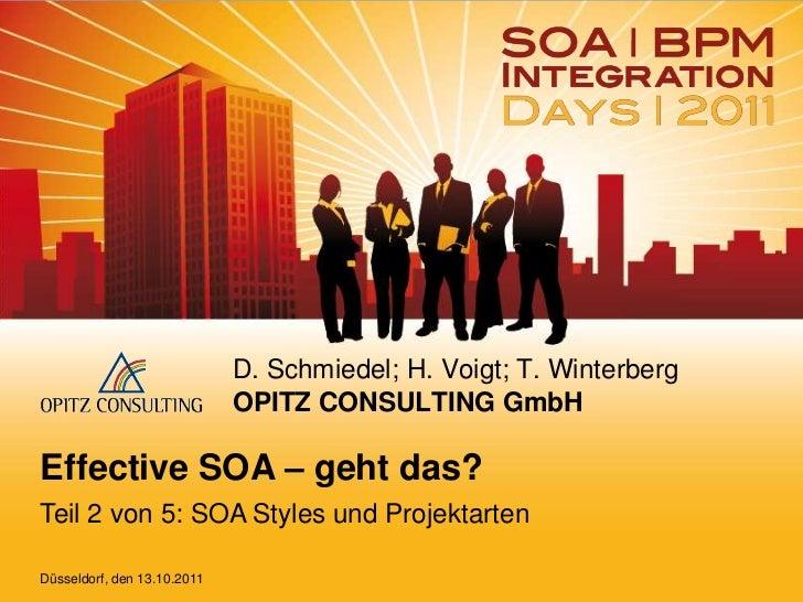 Effective SOA – geht das? Teil 2 von 5: SOA Styles und Projektarten