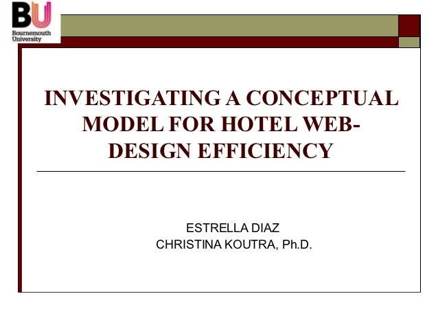 Efficiency of hotels web sites