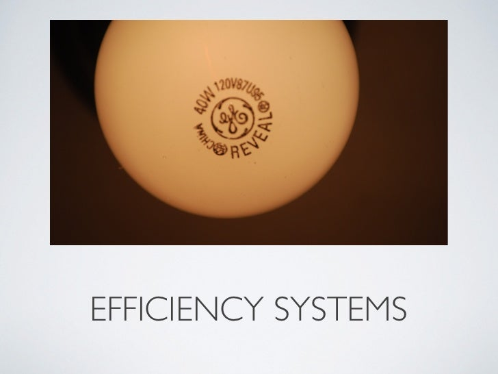 EFFICIENCY SYSTEMS