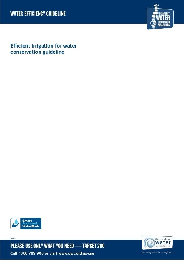 WATER EFFICIENCY GUIDELINEEfficient irrigation for waterconservation guideline#29044PLEASE USE ONLY WHAT YOU NEED — TARGET ...