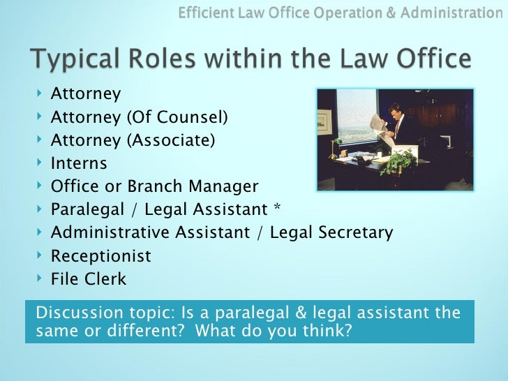 Law Office Administration Amp Organization