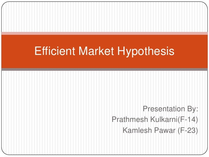 the efficient market hypothesis How should i invest what the efficient market hypothesis does and does not say professor robert korajczyk january 17, 2017.