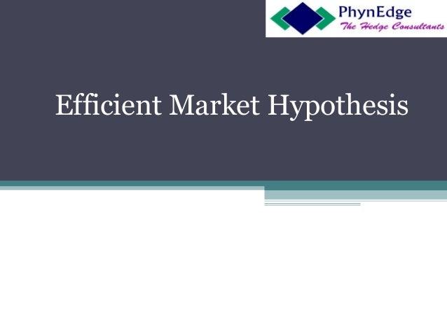 Efficient Market Hypothesis - EMH