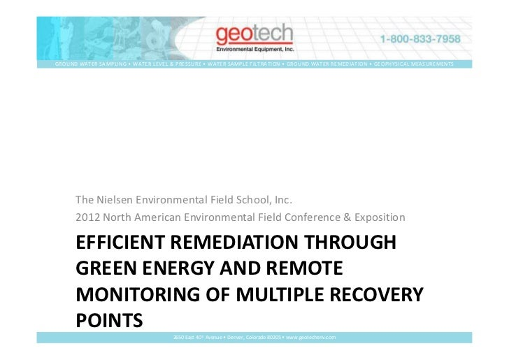 Efficient Remediation Through Green Energy And Remote Monitoring Of Multiple Recovery Points