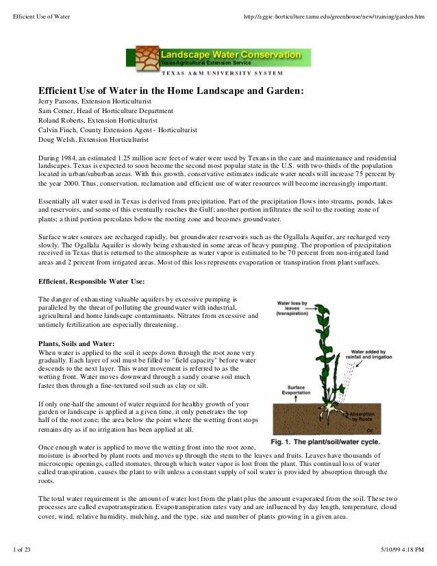 Efficient Use of Water                                                            http://aggie-horticulture.tamu.edu/green...