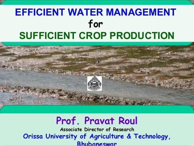 Efficient water management