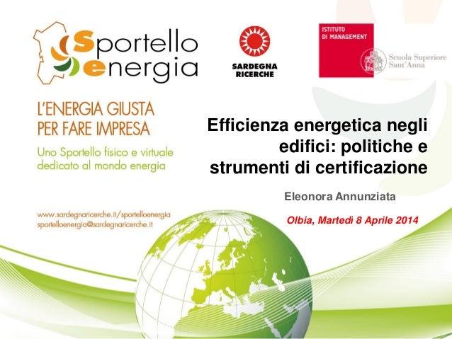Efficienza energetica negli edifici politiche e strumenti di certificazione
