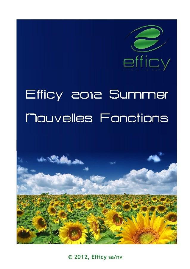 © 2012, Efficy sa/nv