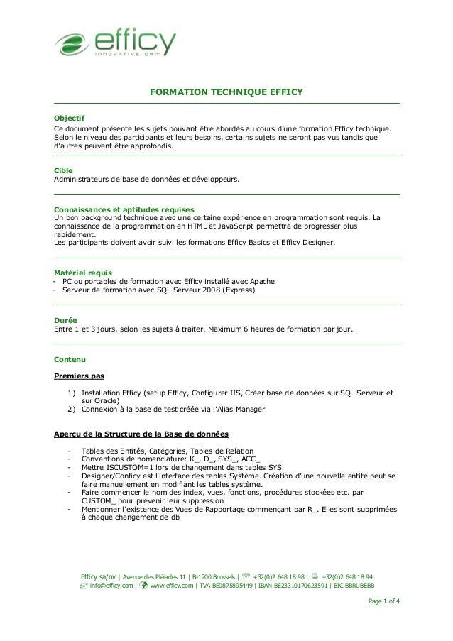 Efficy sa/nv | Avenue des Pléiades 11 | B-1200 Brussels | ℡ +32(0)2 648 18 98 | +32(0)2 648 18 94 info@efficy.com | www.ef...