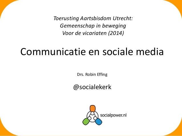 Toerusting Aartsbisdom Utrecht Social Media Rooms Katholieke Kerk