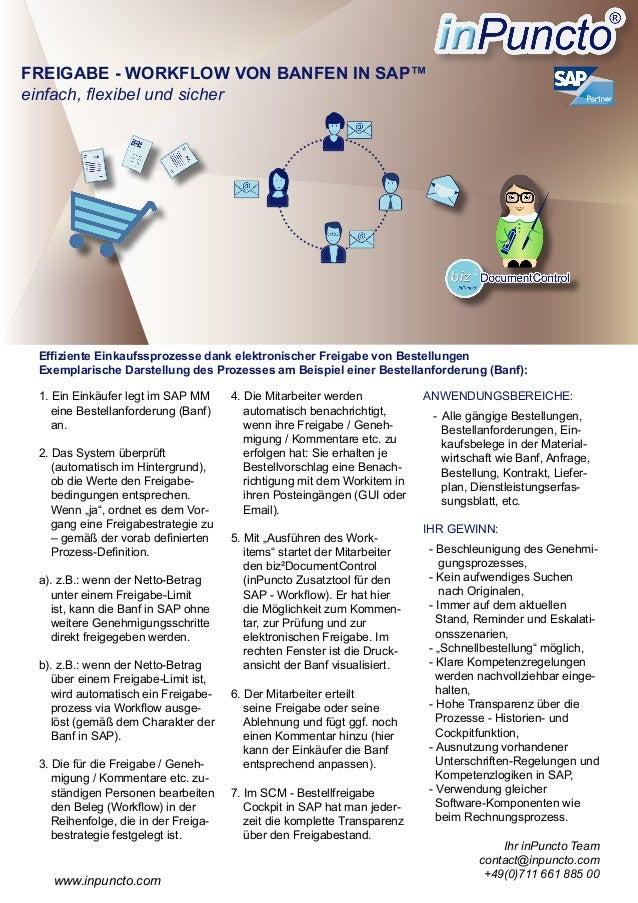 1. Ein Einkäufer legt im SAP MM eine Bestellanforderung (Banf) an. 2. Das System überprüft (automatisch im Hintergrund), o...