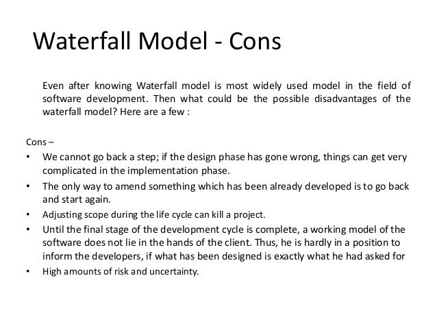 Effort distribution on waterfall and agile for Waterfall design pros and cons