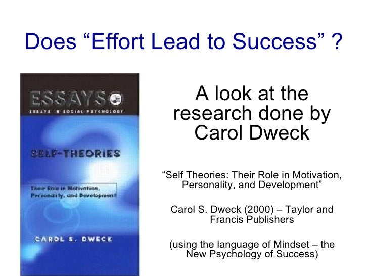 Effort Does Lead To Success (2)