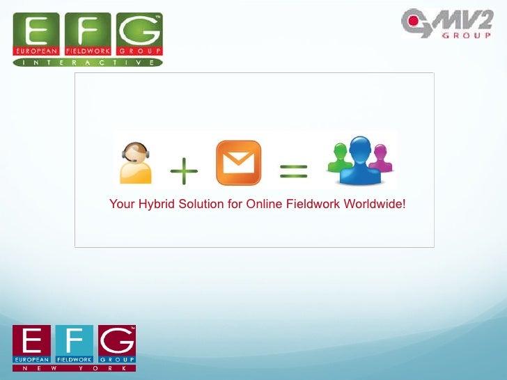 Your Hybrid Solution for Online Fieldwork Worldwide!