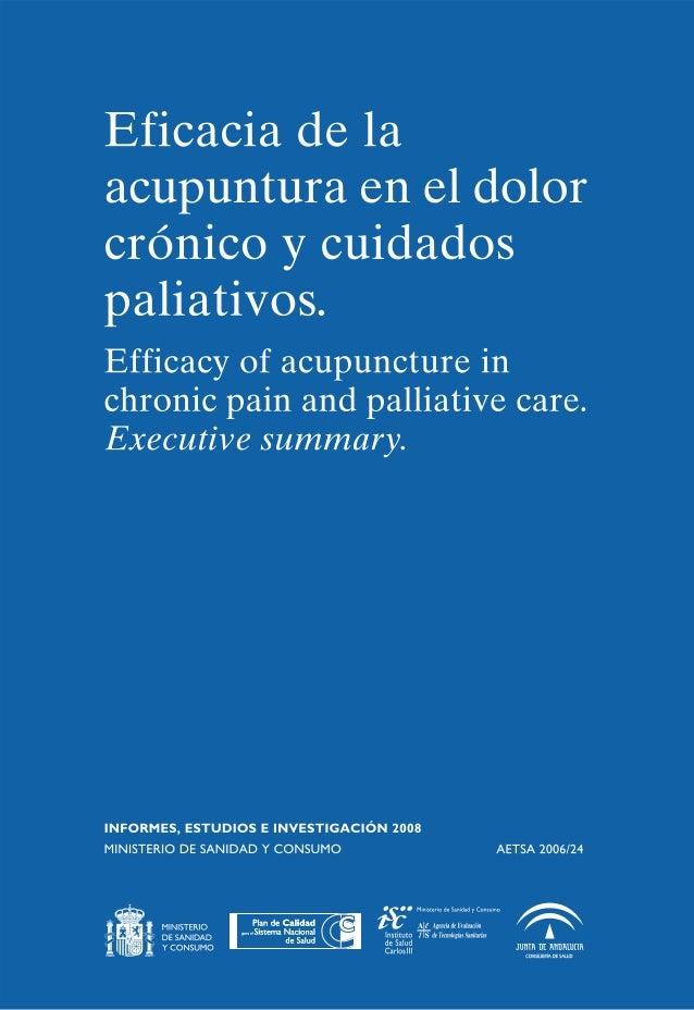Eficacia de la a cupuntura en el dolor cronico