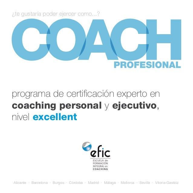 Experto en coaching personal y ejecutivo- Nivel Excellent