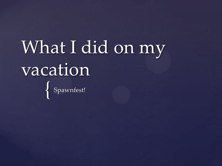 What I did on my Vacation (hint: Scuba & Erlang)