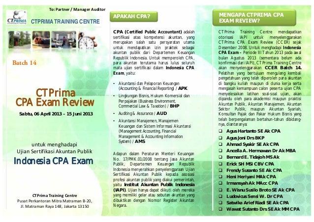 CPA Exam Review - Indonesia CPA Exam