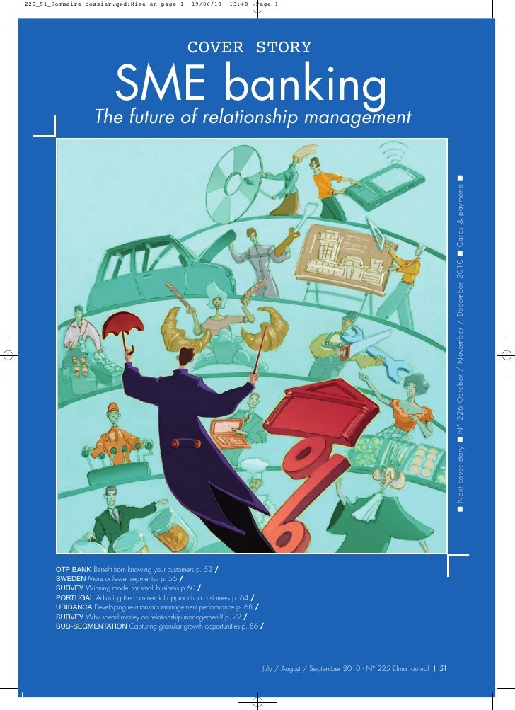 COVER STORY               SMErelationship management            The future of                          banking            ...