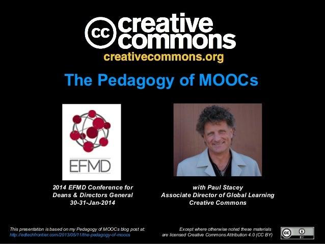 Pedagogy of MOOCs