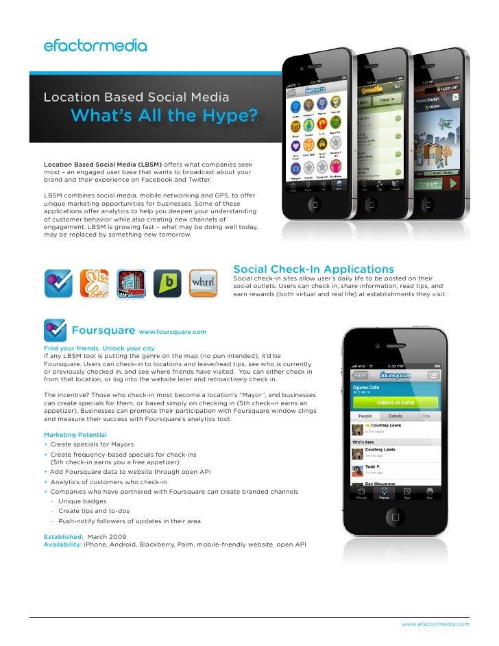 EFM Whitepaper - Location Based Social Media: What's All the Hype?