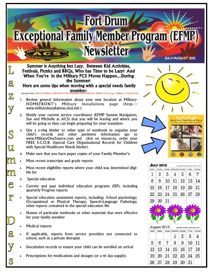 Efmpjuly august 2012 newsletter