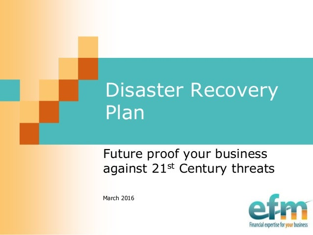 Disaster Recovery Plan Planning Against A Cyber Attack