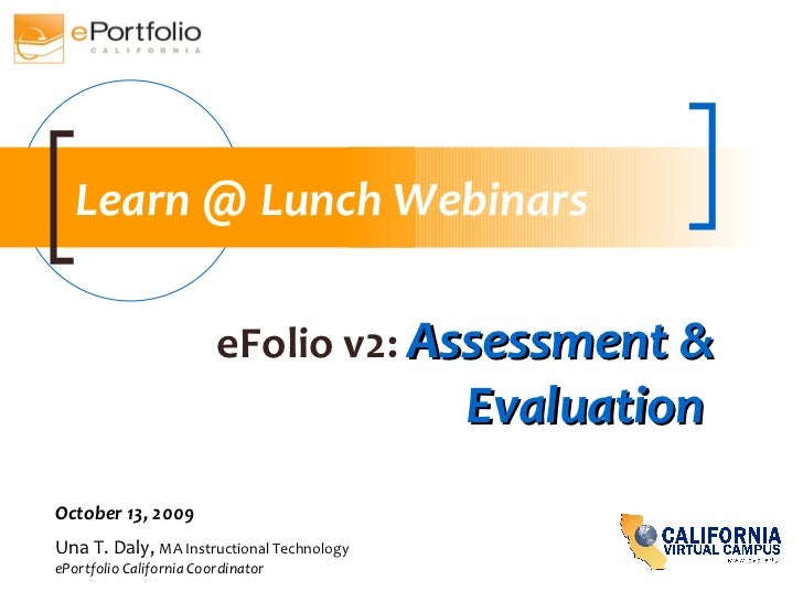 Efolio Asessment & Evaluation